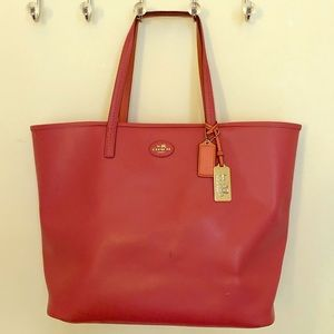 Coach Pink City Tote